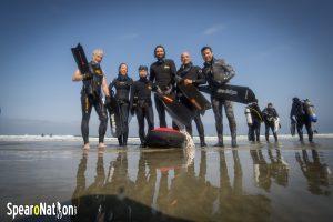 Freedivers on La Jolla Shores Beach
